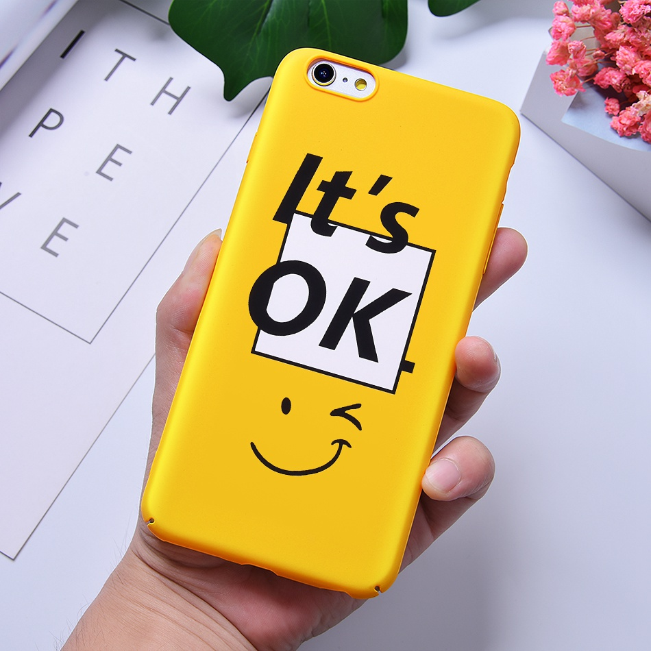 TOMKAS Funny Slogan Phone Case for iPhone 6 6S 7 8 Plus Case for iPhone X 6 S Yellow Back Cover Case for iPhone 7 Plus Coque (10)