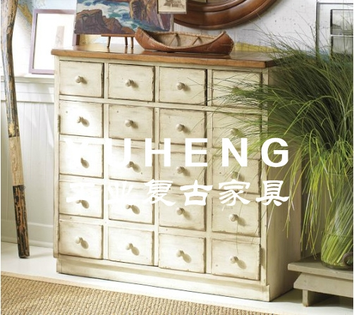 American Country Retro Loft Style Wood Cabinet Drawers Drawers Entrance In  The Medicine Cabinet TV Cabinet