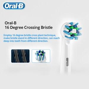 Image 5 - Oral Bเปลี่ยนหัวแปรงสีฟันไฟฟ้าCROSS Action 16 องศาคราบกำจัดOriginal OralB EB50 ฟันหัวแปรง 4 ชิ้น/แพ็ค