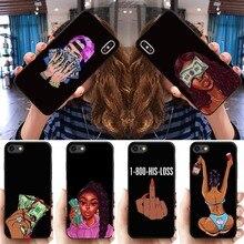 Смешной сделать деньги не друзья стеки черная голова девушка женщины чехол для телефона для iPhone 11 Pro Max X XR XS 8 7 6s Plus силиконовый чехол