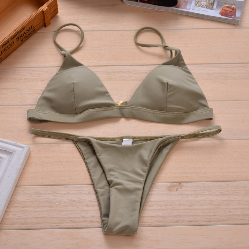 Vertvie Solid Sexy Women Sexy Swimsuits Strapless 2 Piece Beach Swimming Suits 2017 Brazilian Bikini Push Up Bikini Sets Female 5