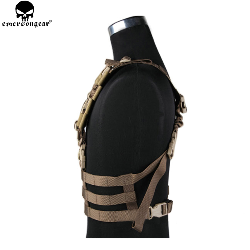 Emersongear Army Military Equipment Airsoft Paintball Chest Rig Combat MOLLE System Low Profile Chest Rig EM7452