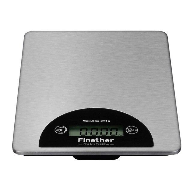 Finether LCD Elektronische Küchenwaage 5 kg 0,1g Präzise Kochen ...