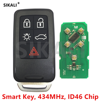 SIKALI Smart Remote Key For Volvo XC60 S60 S60L V40 V60 S80 XC70 434Mhz With ID46