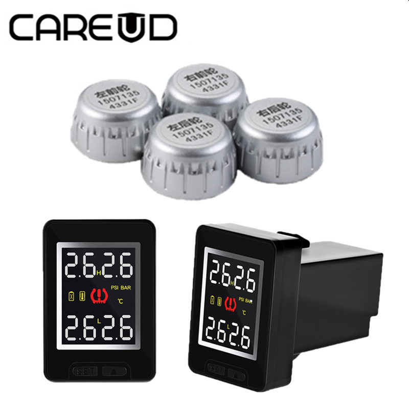 Smart Car TPMS Tire Pressure Monitor System for Toyota Honda Nissan Mazda with 4 sensors Wireless Alarm Systems LCD Display wireless pager system 433 92mhz wireless restaurant table buzzer with monitor and watch receiver 3 display 42 call button