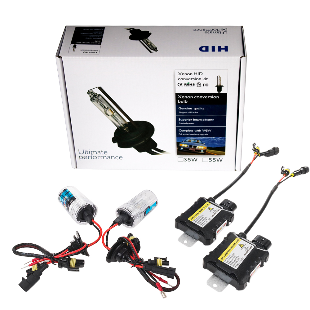 Xenón H7 H4 H1 H11 HID Kit GK55 55 W serie lámpara de Xenón Hid H8 HB3 HB4 881 D2S de xenón se escondió para la luz del coche faro 4300 K 6000 K 8000 K
