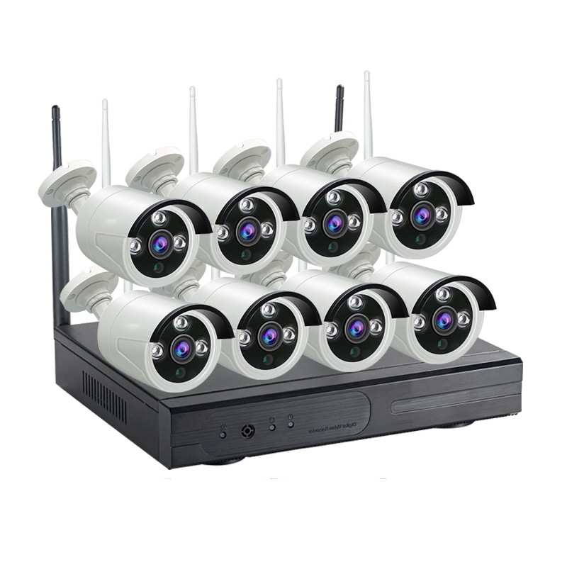 1080P 960P 720P CCTV System 8ch HD Wireless NVR kit Outdoor IR Night Vision IP Wifi Camera Security System Surveillance