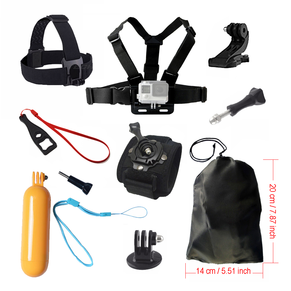 Floating grip Accessories kit for Gopro hero 5 Chest Head Wrist Mount Strap Hand bobber For