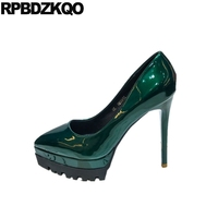 ultra green size 4 34 exotic dancer super ladies pumps extreme sexy stiletto red patent platform shoes pointed toe high heels