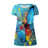 NoisyDesigns Funny Butterfly Beach Dress for Woman Ladies Youth Girls T shirt Dresses Animal Clothes Slim Pencil Dress S M L XL