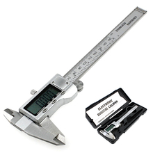 Metal 150mm 6-inch hardened Stainless Steel Electronic Digital Vernier Caliper Micrometer Measuring With Boxd Free Shipping