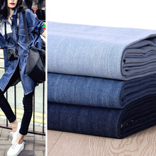 Neue ankunft 50*145 cm 100% Baumwolle denim blue jeans dicken stoff DIY jacke jeans handgefertigten stoff