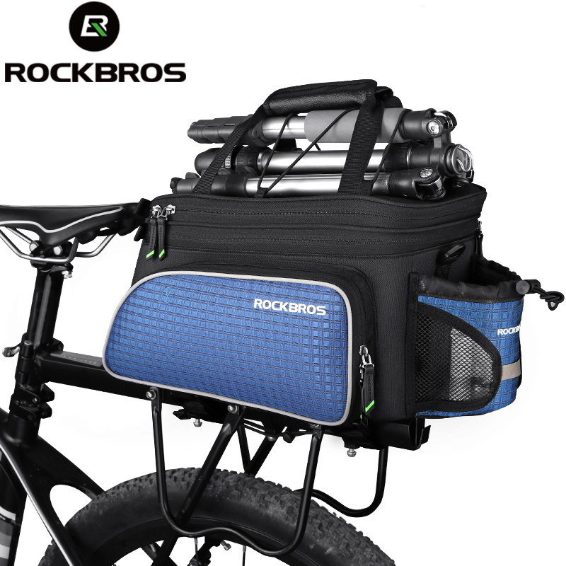 ROCKBROS Bike Seat Bag Rear Backpack Trunk Cycling Pannier Package Large Capacity Bicycle Accessories MTB Bike Ciclismo Bag clever cat page 1