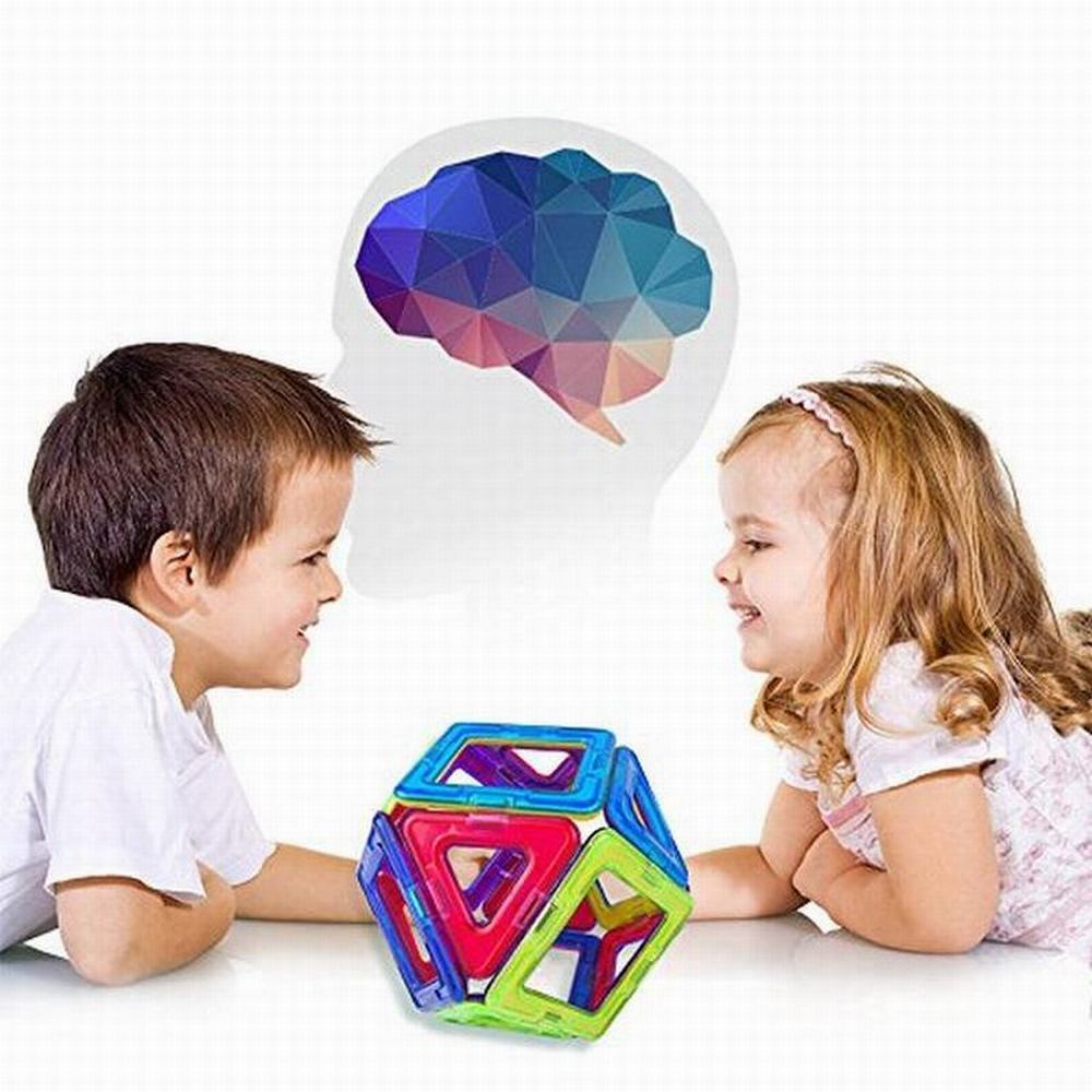 30PCS Triangle Square Magnetic Building Blocks 3D Educational DIY Toys Model Construction Magnet Designer For Children Kids Toys dayan gem vi cube speed puzzle magic cubes educational game toys gift for children kids grownups