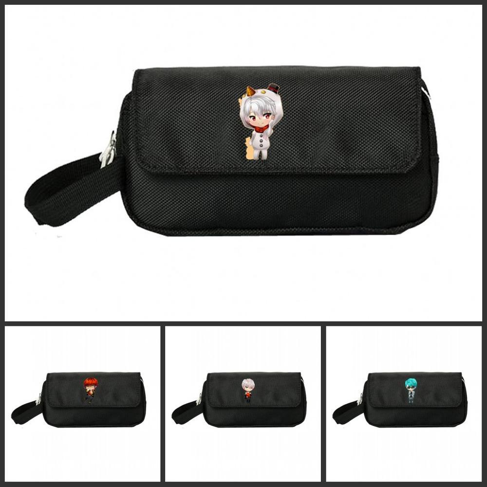 Mystic Messenger Pencill Case Women Cosmetic Cases Makeup Bag Child Girls Student Double Pencill Bag Handbag