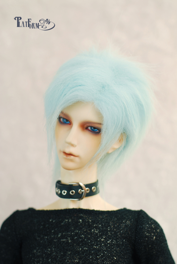 Luo blue  fur wig for 1/3 1/4 1/6 BJD SD doll bjd  Wigs short wig for DIY dollfie doll accessories 7 8 7 8inch 18 19cm bjd doll wig pink 3 long fabric fur wig for 1 4 sd doll dollfie antiskid