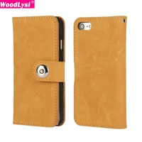 Frosted Leather Case For IPhone 7 7 Plus Top Genuine Luxury Leather Wallet Case Shell For