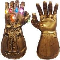 Перчатки Таноса Косплей Опора светодиодный перчатки ПВХ Бесконечность рукавицы дети, игрушки для взрослых Хэллоуин вечерние Новые