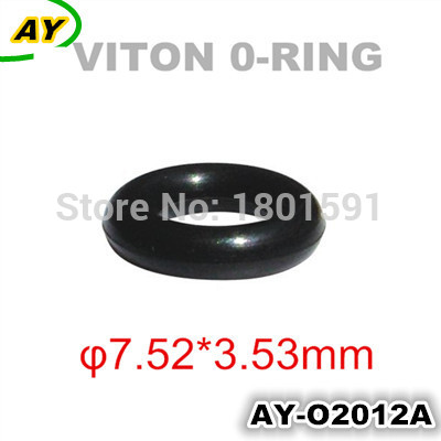 200 Stück versandkostenfrei Autoteile Einspritzventil Universal Viton Oring für japanische Autos (AY-O2012,7.52 * 3,53 mm)