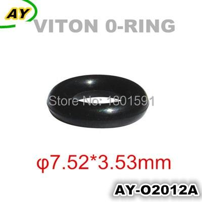 200 stk gratis frakt autodeler drivstoffinjektor universal viton oring for japan biler (AY-O2012,7.52 * 3.53mm)