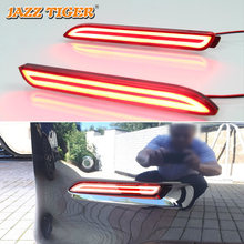 JAZZ TIGER Multi-functions Car LED Rear Fog Lamp Brake Light Bumper Decoration Lamp For Toyota Camry Mark X Venza Avalon Sienna(China)