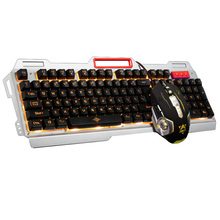 New Tri-color Backlight Pro Gamer Keyboard Gaming 3200 DPI 6 Buttons Mechanical LED Mouse