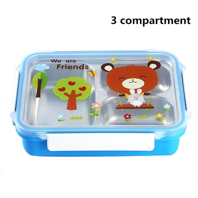 Blue 3compartments Cheap bento boxes 5c6479e2ee0b4