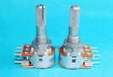 Alps japonês rk16 50kax2/100kax2, potenciômetro estéreo 2-gang dual 50k/100, 1 peça k eixo amassado