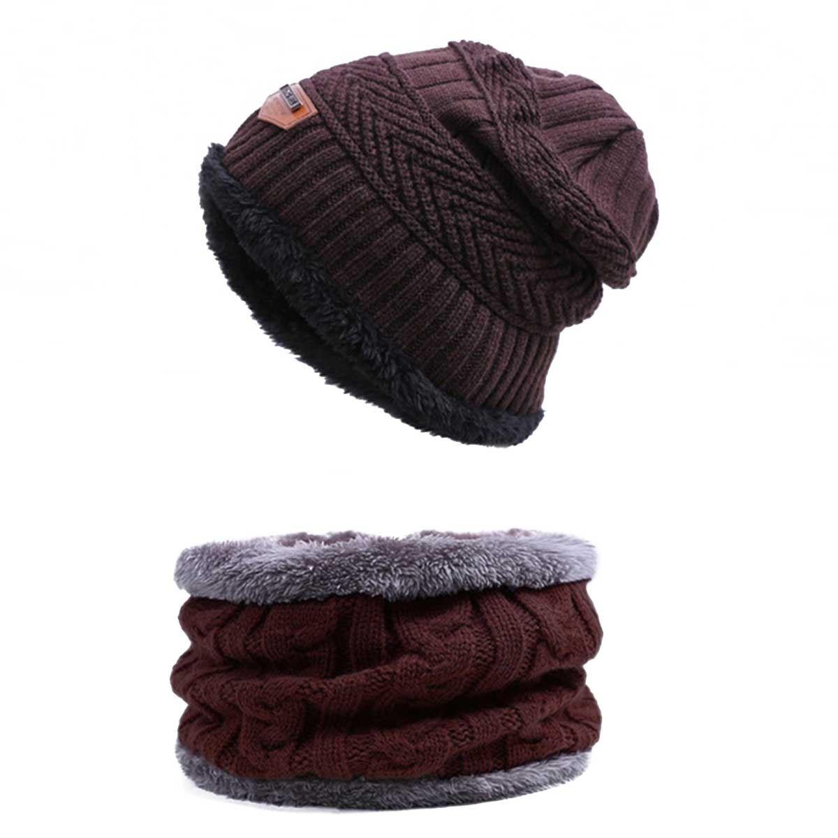 Evrfelan, комплект из двух предметов, зимняя шапка и шарф для мужчин, зимние шапочки, шарфы, мужские зимние комплекты, толстый хлопок, теплые зимние аксессуары - Цвет: B