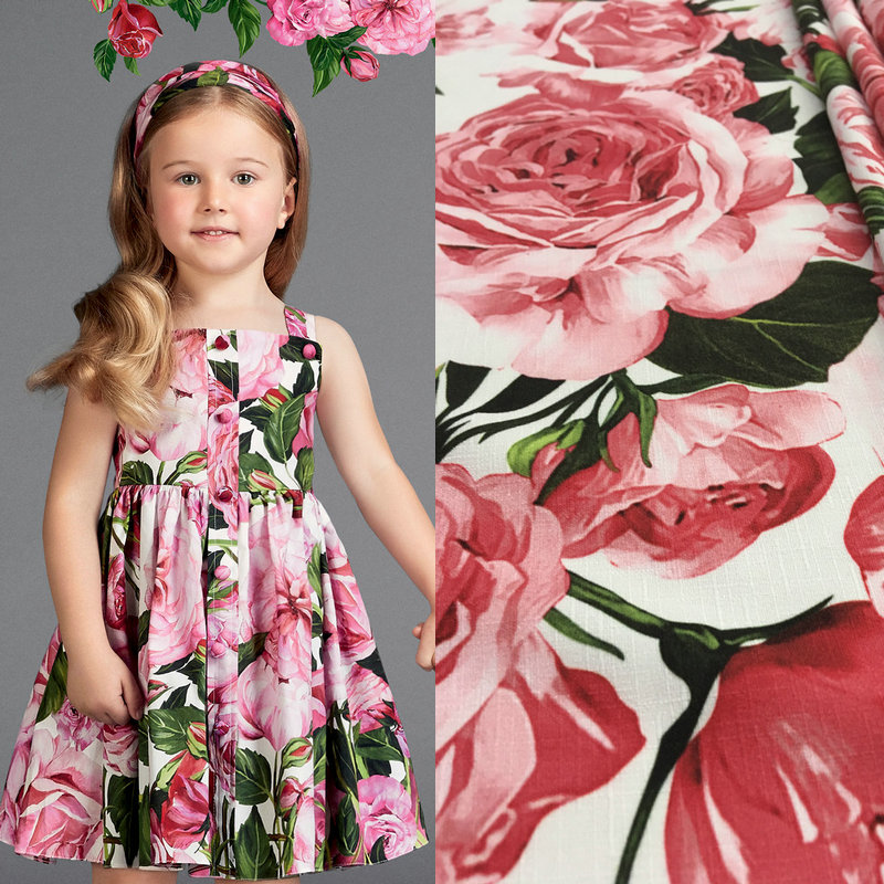 100x145cm flowers printed fabric cotton fabric for women for Children s cotton dress fabric