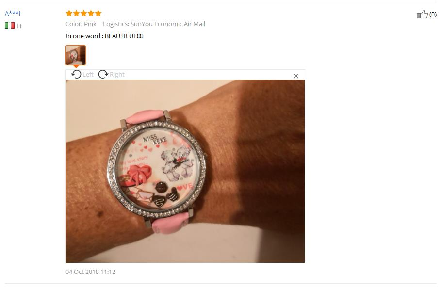 Relojes Mujer Miss Keke 3d Clay Leuke Mini Wereld Strass Horloges - Dameshorloges - Foto 6
