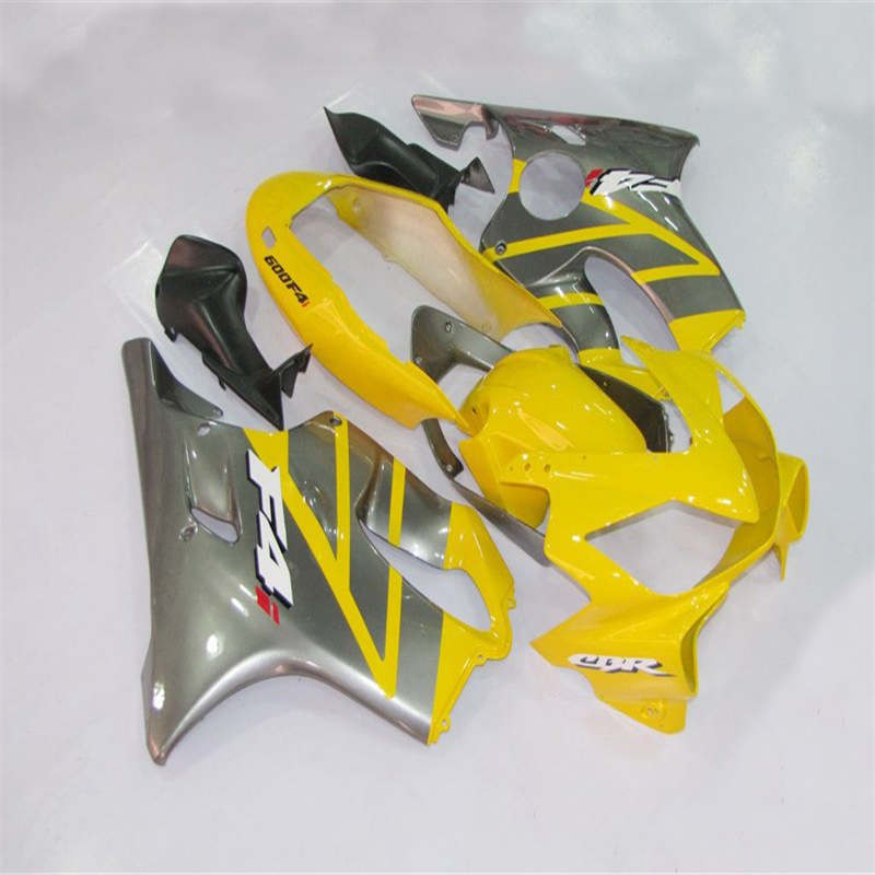 Nn-100%Fit injection fairing kits for <font><b>HONDA</b></font> <font><b>CBR600F4i</b></font> CBR600 CBR 600 F4i 2004 2005 2006 2007 Yellow grey fairing <font><b>parts</b></font> image