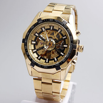 Gorben Brand - Golden Winner Luminous - Mechanical Skeleton Dial Watch