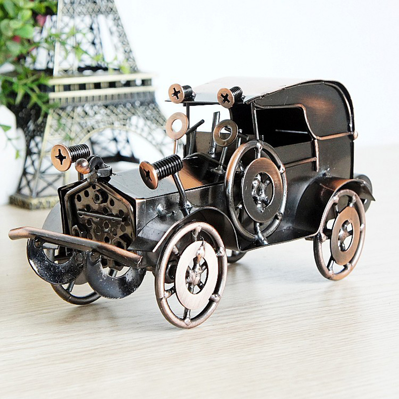 Old Fashioned Classic Car Retro Car Model Metal Craft For Home ...