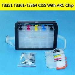 33XL T33 T3361-T3364 Avec Puce de Réinitialisation Automatique Système D'alimentation D'encre En Continu Pour EPSON XP 530 640 645 635 630 540 830 900 Imprimante Ciss