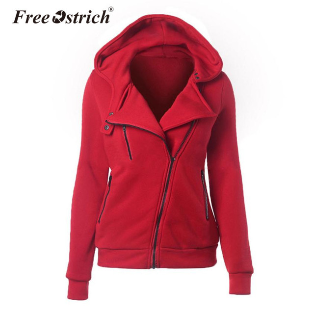 Libre de avestruz de las mujeres chaqueta con capucha de otoño e invierno  de abrigo Casual 18f6398d8a49