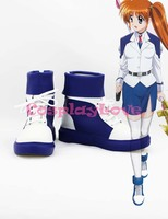 Magical Girl Lyrical Nanoha Nanoha Takamachi Cosplay Shoes Boots Hand Made Custom Made For Halloween Christmas