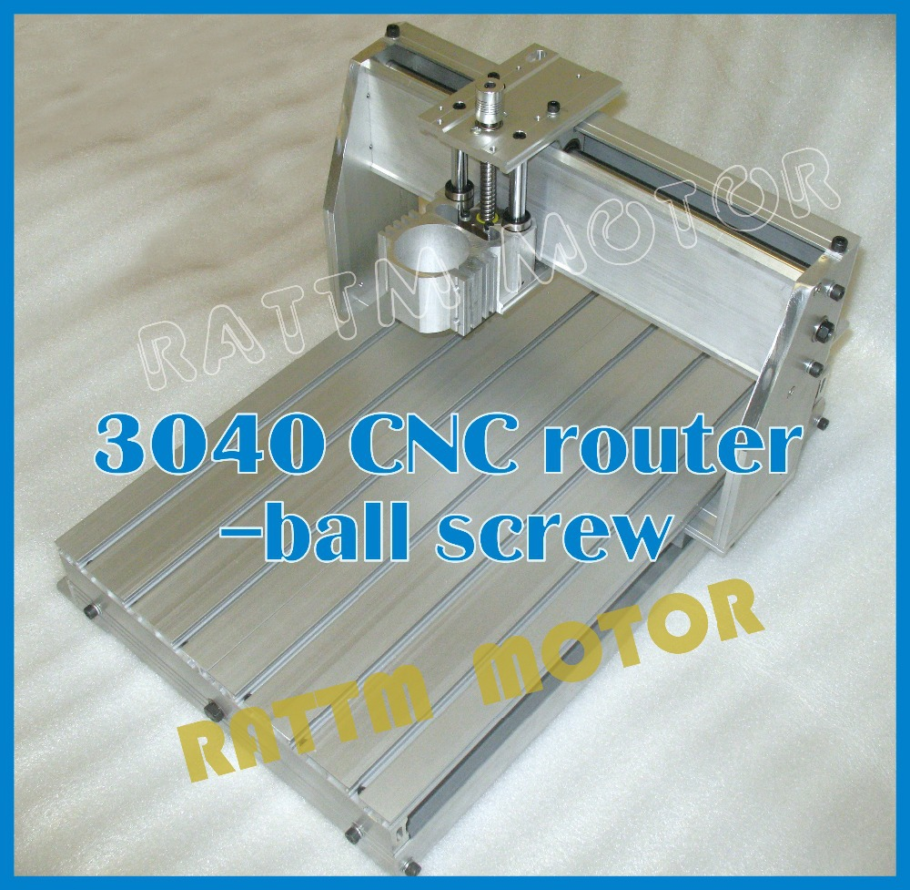 3040 CNC router milling machine mechanical kit CNC aluminium alloy Frame ball screw for DIY user no tax ship from factory new release diy 3040t cnc frame for 3040 cnc router with trapezoidal screw for milling machine frame