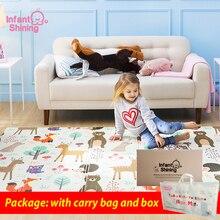 Детский Блестящий детский игровой коврик Xpe Puzzle Детский коврик утолщенный Tapete Infantil детская комната ползающий коврик складной коврик ковер для детей