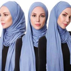 85*180 мусульманский хиджаб из Джерси шарф для женщин femme musulman hijabs Исламские шали soild Цвет модал головной платок для женщин