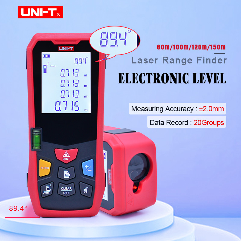 UNI T Laser Range Finder Electronic level laser distance meter measure High precision electronic horizontal 80m
