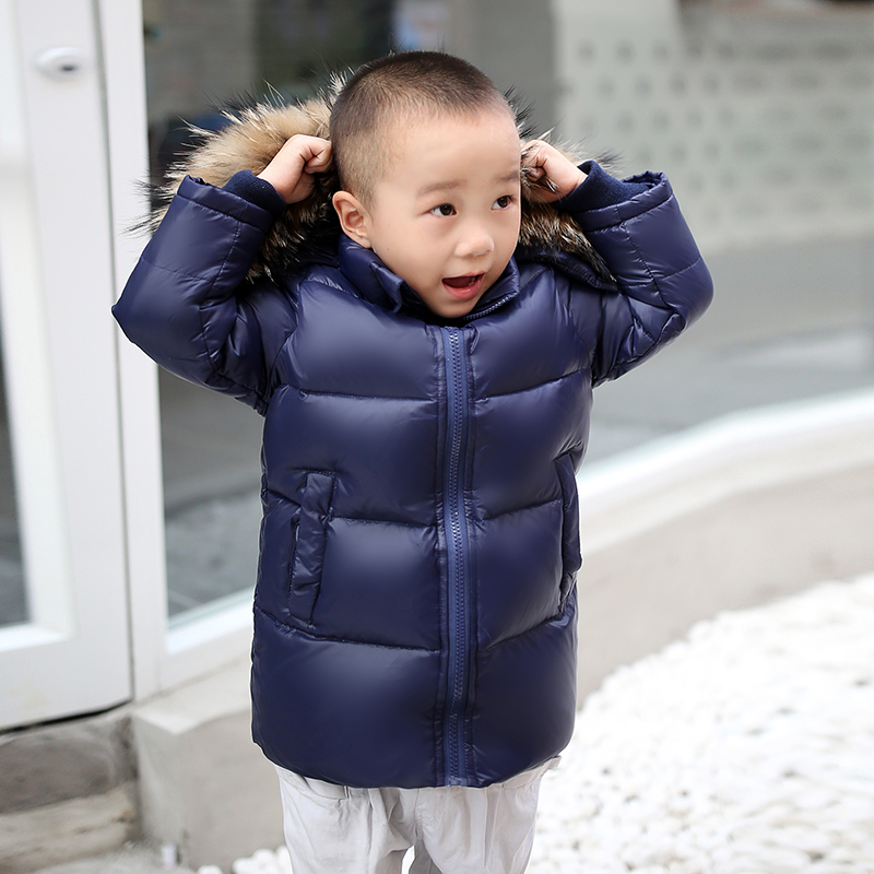 Children winter coat  boys winter down Jackets Children Coats  for cold -30 degree jacket baby girl clothes 30# evans v dooley j enterprise plus grammar pre intermediate