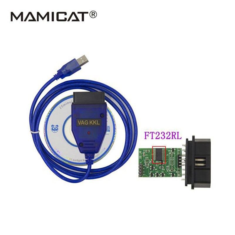 A+++ FT232RL Chip VAG 409 USB 409.1 USB KKL Cable Interface VAG409 KKL USB OBD OBD2 Diagnostic Interface OBDII Scan ...