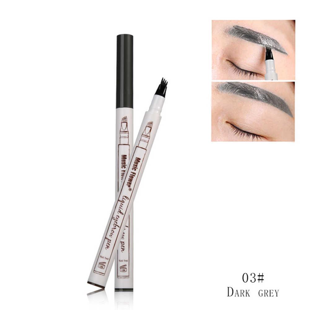 3 สี 3D Eyebrow Tattoo ปากกา 4 ส้อมกันน้ำ Eyebrow Microblading ปากกา Smudge - proof Brow Maquiagem Profissional/อพาร์ทเมน TSLM2