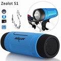 Zealot S1 Bluetooth Speaker Banco de Potência Sem Fio Portable Speakers FM TF LEVOU Luz Para O Esporte Ao Ar Livre + Suporte de Montagem de Bicicletas