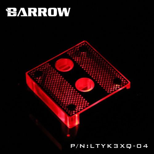 Barrow RBG X99 transparent acrylic CPU waterblock 0.4MM microcutting micro waterway for Intel 2011-V3 LTYK3XQ-04