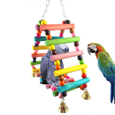 Small And Medium Parrot Supplies Climbing Ladders Ladders Triangular Ladder Swings Chew Toys Circular Swing