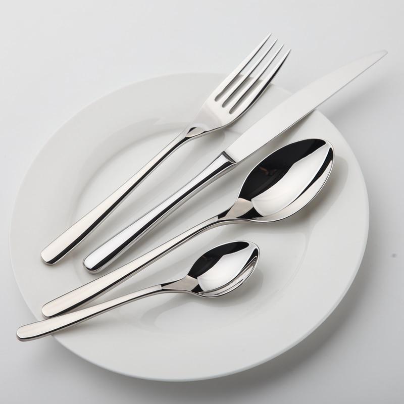 Ensemble de vaisselle Zone confortable en acier inoxydable vaisselle de luxe ensemble de couverts Vintage qualité 24 pièces couteau fourchette à manger ensemble de dîner Western