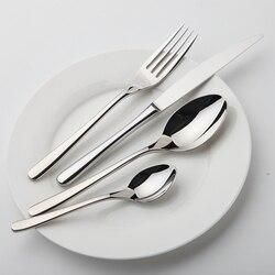 Juego de vajilla de zona acogedora, vajilla de acero inoxidable, juego de cubiertos de lujo, calidad Vintage, 24 uds, cuchillo, tenedor, comedor, conjunto occidental