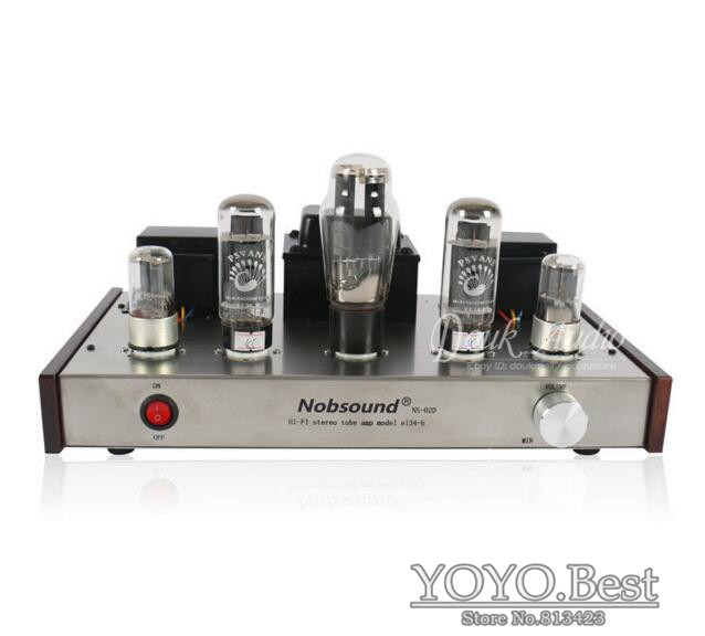 Nobsound Handmade Audio EL34 Single-ended 2.0 Channel HiFi Class A Stereo Tube Amplifier boyun hifi el34 valve tube amplifier 2 0 channel stereo single ended class a amp 12w 2 finished product 110 240v